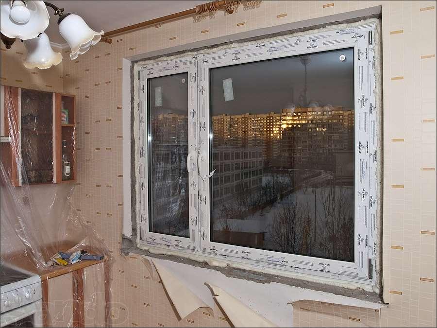 Установка откосов на окна